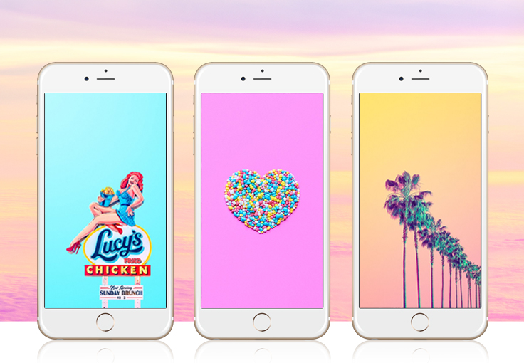 Candy Colored iPhone Wallpaper Collection by Matt Crump
