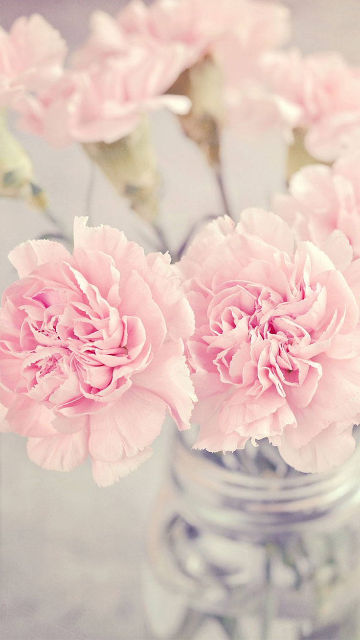 Vase with Pink Peonies ★ Download more Pink Peony iPhone Wallpapers at preppywallpapers.com