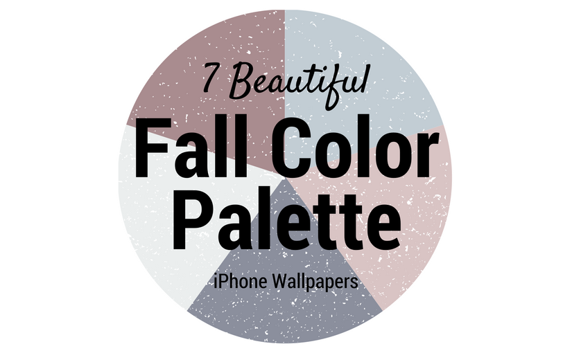 7 Beautiful Fall Color Palette iPhone Wallpapers