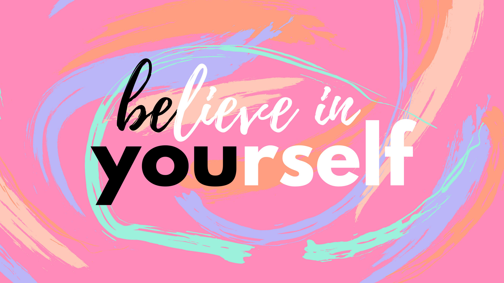 Believe in yourself | Girl Boss Mac Wallpapers by PreppyWallpapers.com
