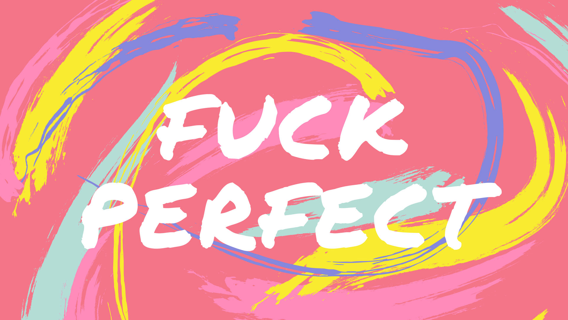 F*ck Perfect | Girl Boss Mac Wallpapers by PreppyWallpapers.com